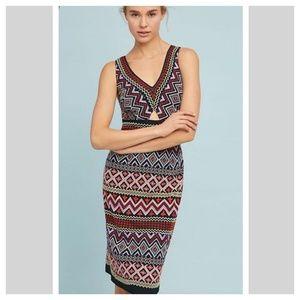 Anthropologie Akemi Kin Geo Embroider Column dress